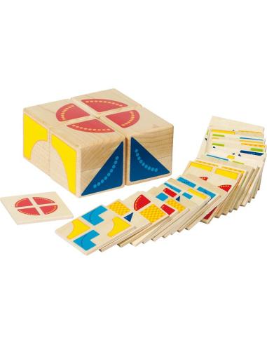 Jeu puzzle Kubus Goki Casse tête réflexion reproduire modele placage materiel educatif pedagogique ecole maternelle