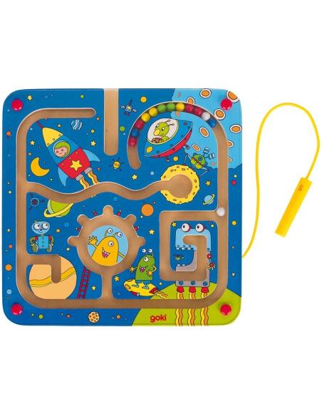 Labyrinthe magnétique thème espace Motricité fine ecriture montessori stylo bille materiel educatif apprentissage pedagogique cl