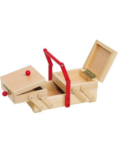 Petite boîte couture bois Goki materiel educatif fonction executive atelier autonome montessori