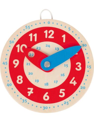 Horloge apprendre lire heure bois goki materiel educatif pedagogique minute montessori classe maternelle primaire teampe