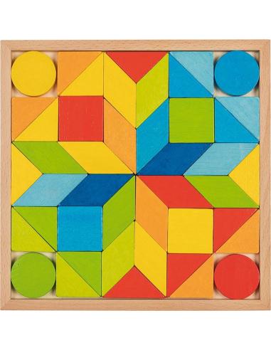Puzzle mandala mosaique bois Jouet GOKI Matériel Montessori Waldorf Reggio enfant