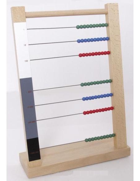 Grand boulier abaque materiel montessori didactique maths calcul addtion statique