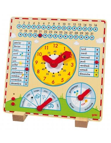 Calendrier perpetuel et horloge en bois (Goki) Goki 58607  Heure (temps) - 1