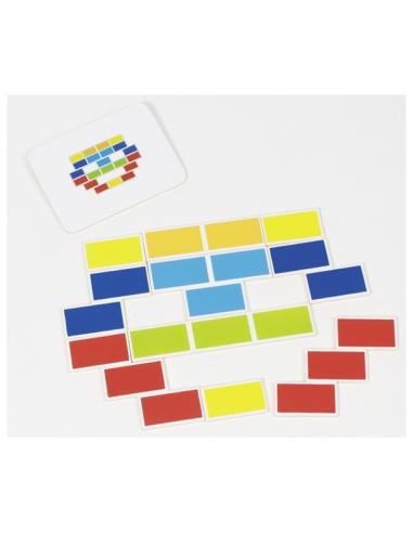 Jeu assemblage goki reproduire modele couleur carte materiel educatif pedagogique ecole