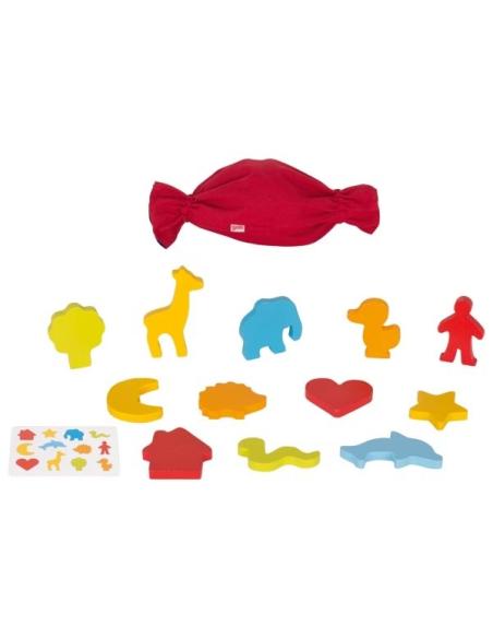 Jeu sensoriel mise en paire de formes materiel educatif pedagogique classe ecole couleur motricite