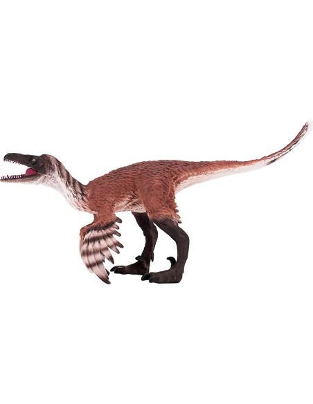 Figurine dinosaure Troodon avec mâchoire articulée Mojo 387389 Matériel pédagogique Enrichissement Montessori Jouet Cartes mater