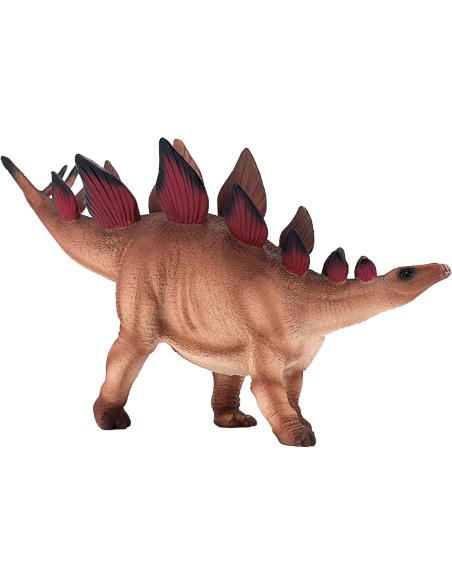 Figurine dinosaure Stegosaurus Mojo 387380 Matériel pédagogique Enrichissement Montessori Jouet Cartes maternelle science vocabu