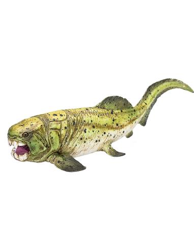 Figurine dinosaure Dunkleosteus Mojo 387374 Matériel pédagogique Enrichissement Montessori Jouet Cartes maternelle science vocab