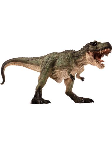 Figurine dinosaure T-Rex vert à la chasse Mojo 387293 Matériel pédagogique Enrichissement Montessori Jouet Cartes maternelle sci