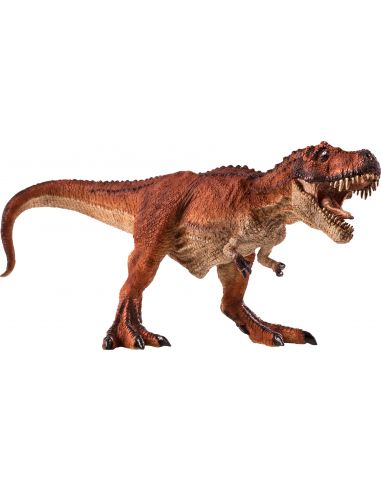 Figurine dinosaure T-Rex roux à la chasse Mojo 387273 Matériel pédagogique Enrichissement Montessori Jouet Cartes maternelle sci