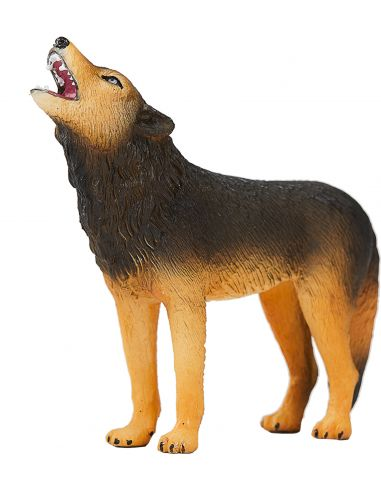 Figurine Loup hurlant - Mojo 387245 Mojo {PRODUCT_REFERENCE}  Chiens & Chats - 1
