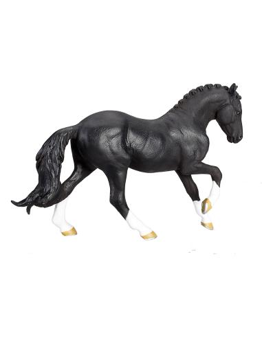 Figurine cheval Hanovrien noir Mojo 387241 Matériel pédagogique Enrichissement Montessori Jouet Cartes maternelle science vocabu