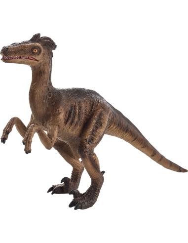 Figurine dinosaure Vélociraptor Mojo 387225 Matériel pédagogique Enrichissement Montessori Jouet Cartes maternelle science vocab