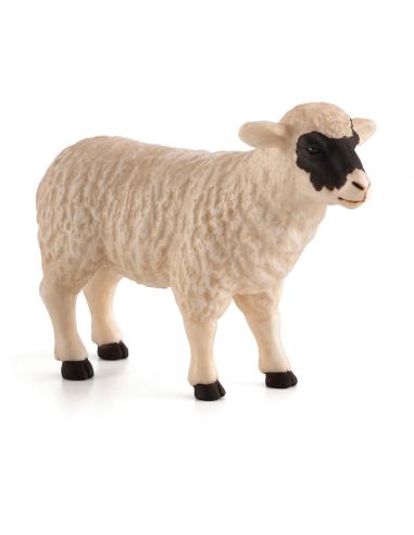 Figurine Mouton au visage noir Mojo 387058 Matériel pédagogique Enrichissement Montessori Jouet Cartes maternelle science vocabu
