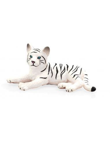 Figurine Bébé Tigre blanc couché - Mojo 387015 Mojo {PRODUCT_REFERENCE}  Animaux sauvages - 1