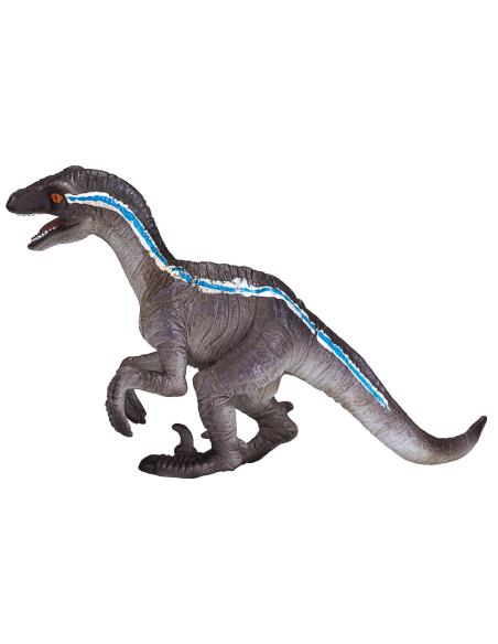Figurine dinosaure Vélociraptor accroupi Mojo 381022 Matériel pédagogique Enrichissement Montessori Jouet Cartes maternelle scie