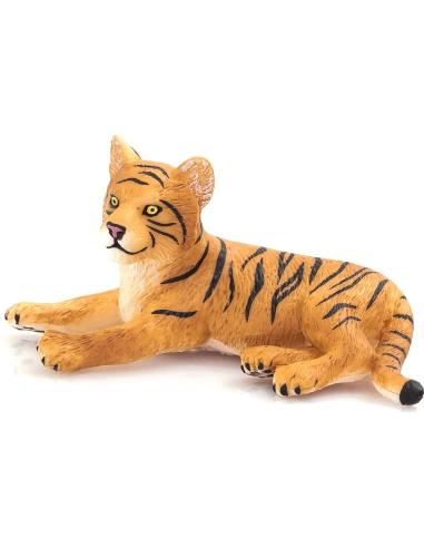 Figurine Bébé Tigre couché Mojo 387009 Matériel pédagogique Enrichissement Montessori Jouet Cartes maternelle science vocabulair