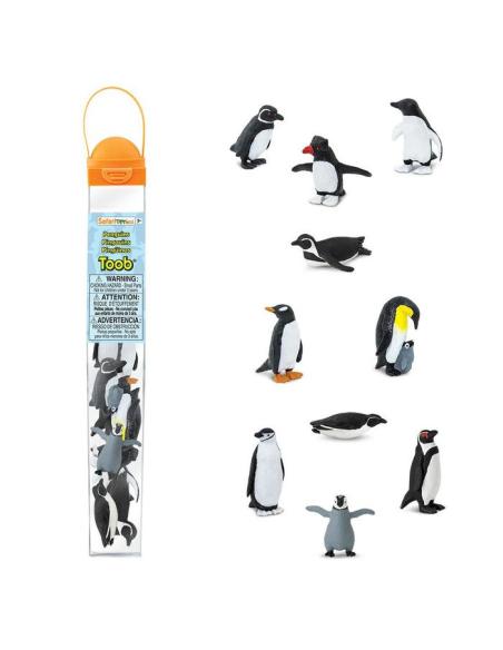 Figurines pingouins Tube Safari 683404 Matériel pédagogique Enrichissement Montessori Jouet Cartes maternelle science vocabulair
