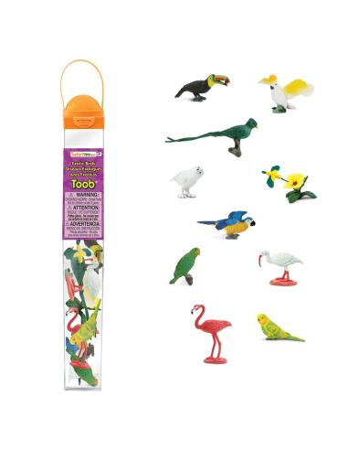 Figurines oiseaux exotiques - Tube Safari Ltd® 680404 Safari Ltd® 680404  Tubes et Toob® - 3