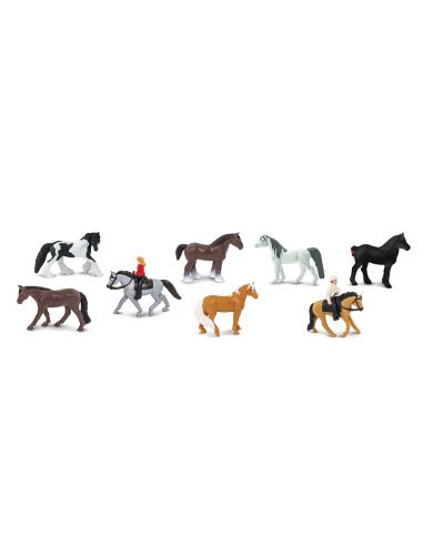 Figurines chevaux cavaliers Tube Safari 679704 Matériel pédagogique Enrichissement Montessori Jouet maternelle centre equestre f