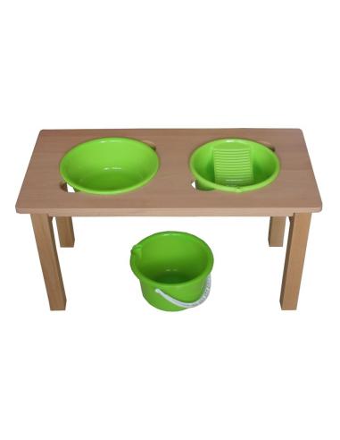 Table lavoir Montessori materiel vie pratique laver motricite eveil enfant classe maternelle creche