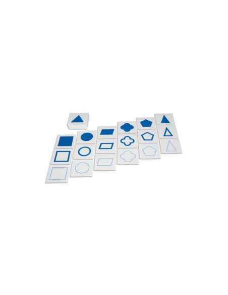 Cartes géométrie cabinet apprendre materiel montessori didactique pedagogique ecole maternelle primaire