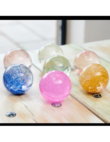 Lot de 7 balles sensorielles arc-en-ciel paillettes (glitter) Tickit ® {PRODUCT_REFERENCE}  Affiner ses sens - 2