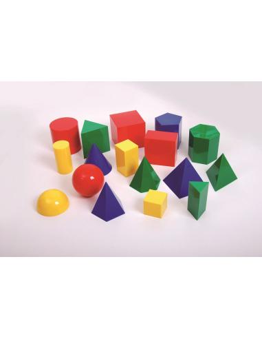 Grands solides géométriques couleur materiel didactique mathematiques pedagogique ecole primaire college geometrie 3d espace