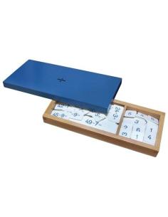Boîte d'opération équations de la division Matériel Montessori ticket opération table