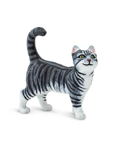 Figurine Chat Gray Tabby - Safari Ltd® 100128 Safari Ltd® {PRODUCT_REFERENCE}  Figurines - 3