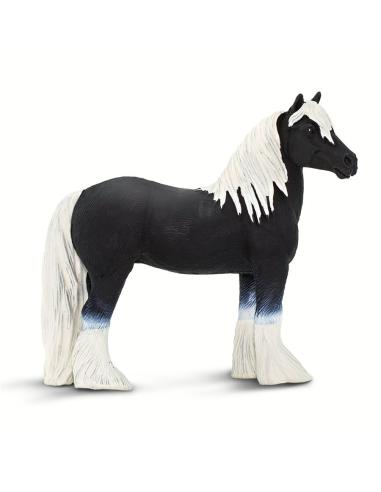 Figurine Cheval Gypsy Vanner - Safari Ltd® 150305 Safari Ltd® {PRODUCT_REFERENCE}  Chevaux et poneys - 4