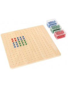 Petit plateau racine carrée perles matériel montessori didactique