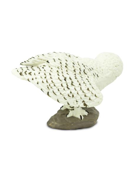 Figurine Hibou des neiges Safari Ltd® 264729 Jouet réaliste Matériel pédagogique Cartes Animaux Montessori replique Oiseaux