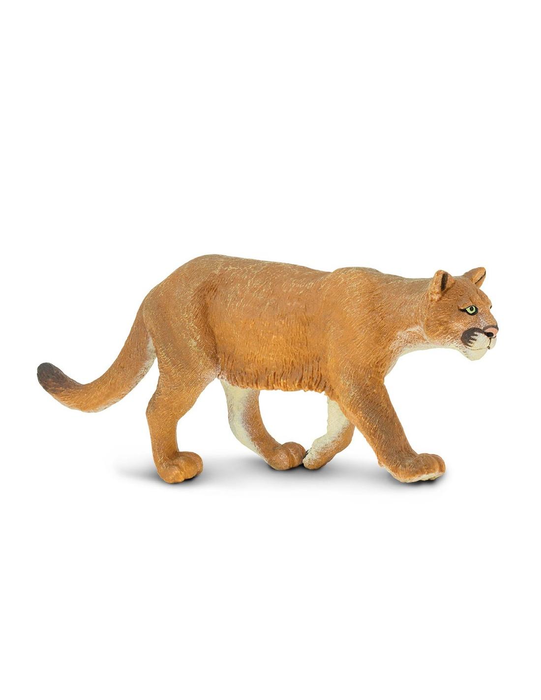 Figurine Puma - Safari Ltd® 291829 | Jouet réaliste | Matériel pédagogique | Cartes Animaux Montessori