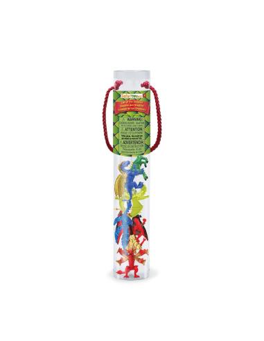 Figurines Dragons 2 tube Safari Ltd® 685704 Jouet réaliste Matériel pédagogique Cartes Animaux Montessori replique Tubes