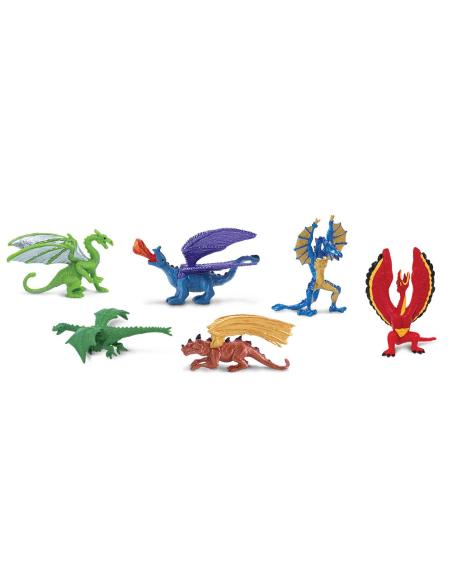 Figurines Dragons 1 tube Safari Ltd® 685604 Jouet réaliste Matériel pédagogique Cartes Animaux Montessori replique Tubes