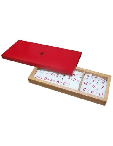 Boîte équations exercices de l'addition Matériel Montessori didactique ticket opération table