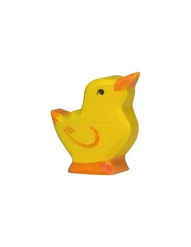 Figurine poussin tête haute Holztiger Animaux Ferme Jouet bois Goki jeu libre montessori reggio monde miniature
