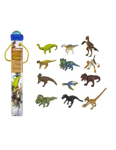Figurines dinosaures à plumes Tube Safari 681904 Matériel pédagogique Enrichissement Montessori Jouet Cartes maternelle science
