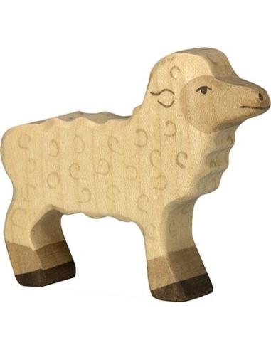 Figurine agneau Holztiger Animaux Ferme Jouet bois Goki jeu libre montessori reggio monde miniature construction eco europe