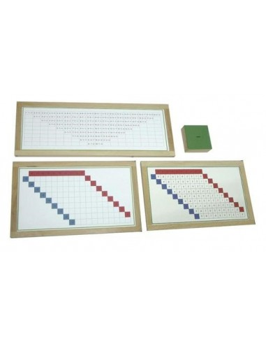 Tableaux de mémorisation soustraction Matériel Montessori didactique