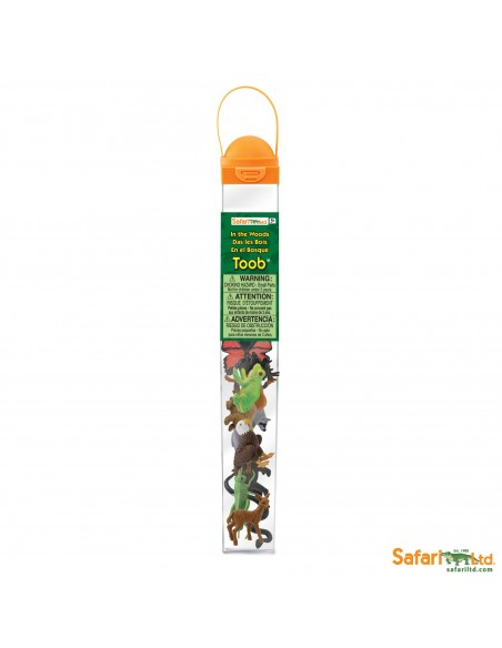 Figurines Europe faune et flore Tube Safari 685504 Matériel pédagogique Enrichissement Montessori Jouet Cartes maternelle scienc